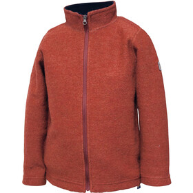 Ivanhoe of Sweden Rulle Full Zip Jacket Kids red clay